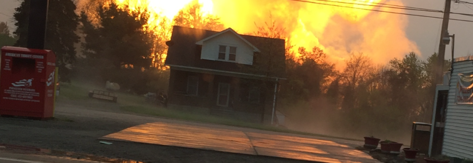 Pipeline Explodes in Salem Twp, Westmoreland County